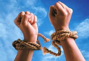 Galatians 5:1 5 It is for freedom that Christ has set us free. Stand firm, then, and do not let yourselves be burdened again by a yoke of slavery.