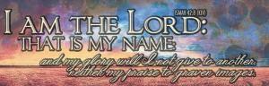 Isaiah 42:8
